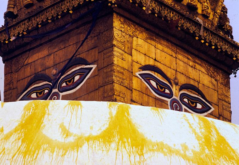 Buddha Eyes Katmandu Nepal 1995